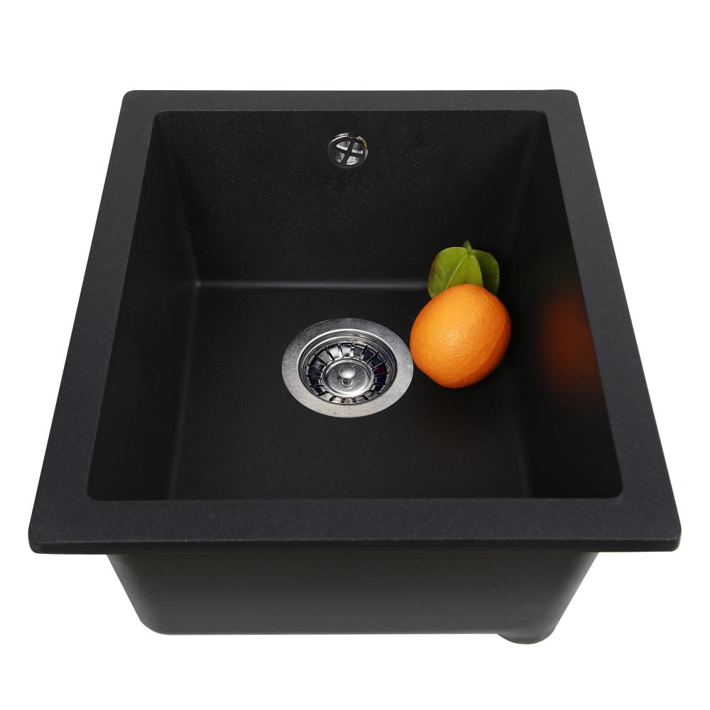 Мийка кухонна гранітна Perfelli ESTO PGE 101-38 BLACK METALLIC