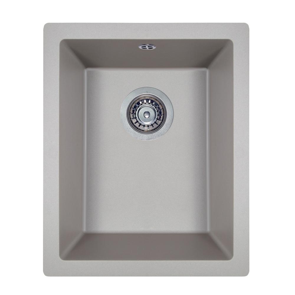 Мийка кухонна гранітна  Perfelli ESTO PGE 101-38 GREY METALLIC