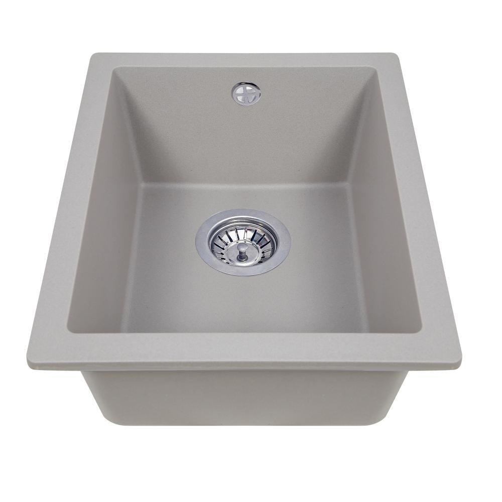 Granite kitchen sink Perfelli ESTO PGE 101-38 GREY METALLIC