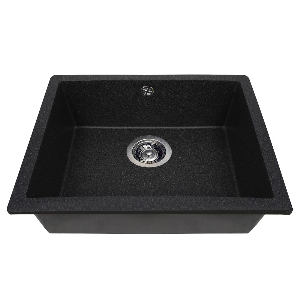 Granite kitchen sink Perfelli ESTO PGE 10-55 BLACK
