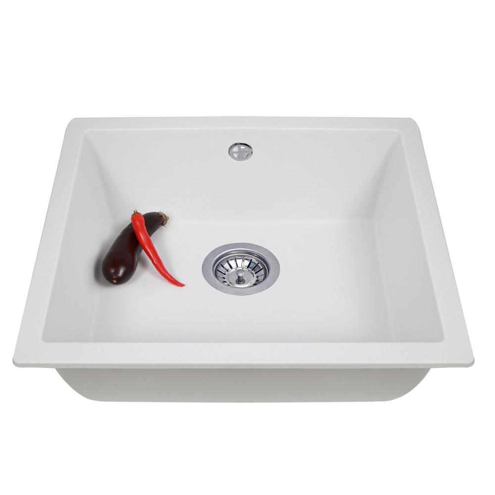 Lavello da cucina in granito Perfelli ESTO PGE 10-55 WHITE