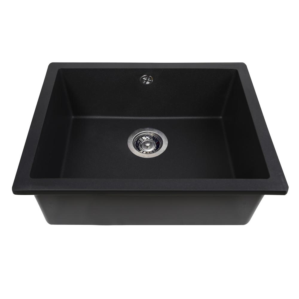Мийка кухонна гранітна  Perfelli ESTO PGE 101-55 BLACK METALLIC