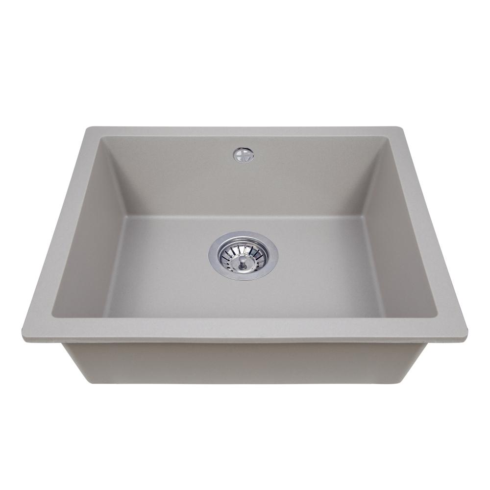 Мийка кухонна гранітна  Perfelli ESTO PGE 101-55 GREY METALLIC