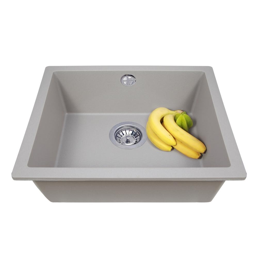 Lavello da cucina in granito Perfelli ESTO PGE 101-55 GREY METALLIC