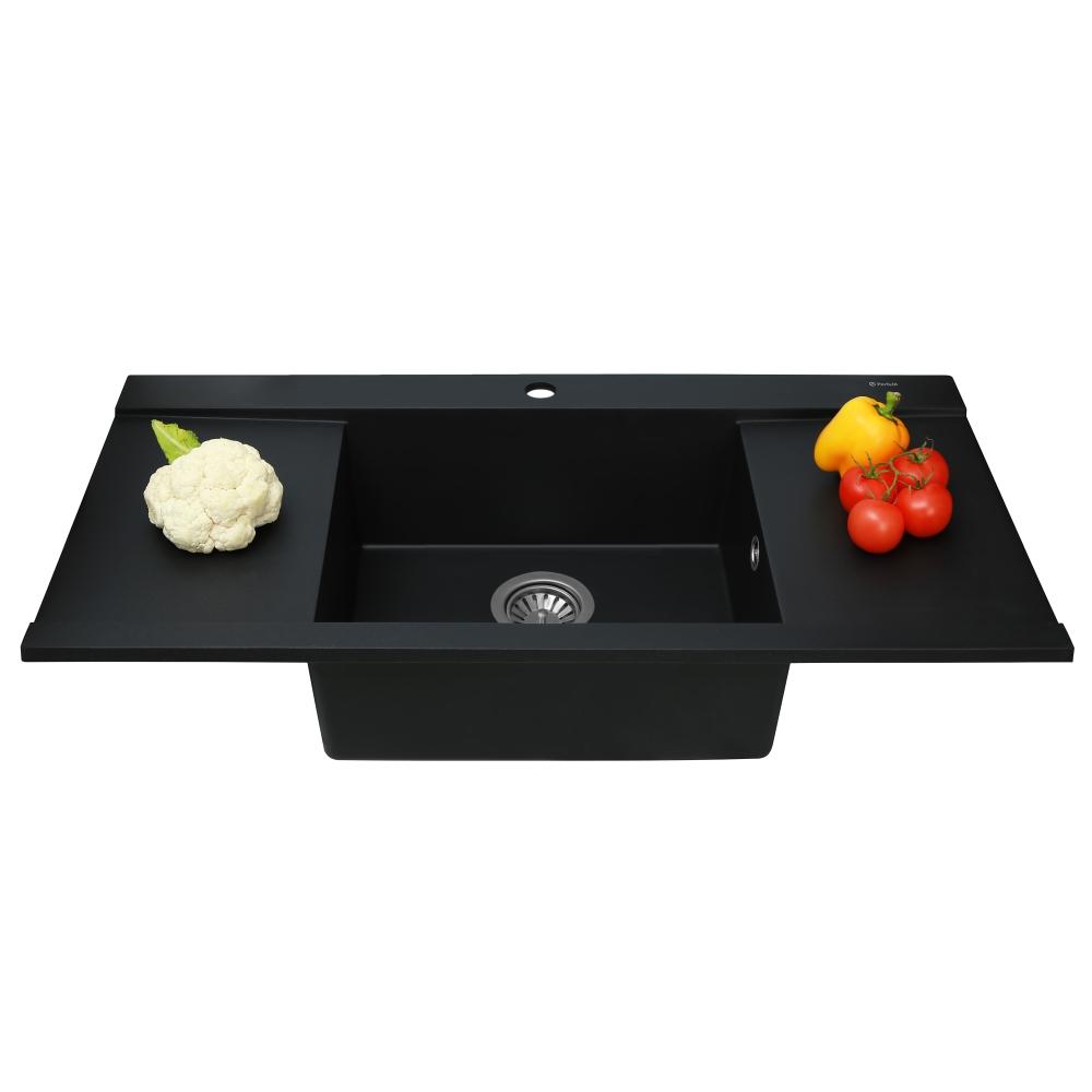 Мойка кухонная гранитная  Perfelli ETERNO PGE 125-96 BLACK