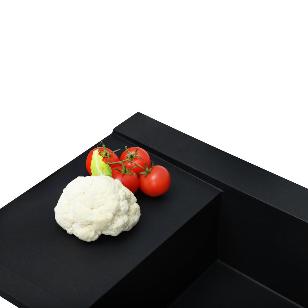 Lavello da cucina in granito Perfelli ETERNO PGE 125-96 BLACK