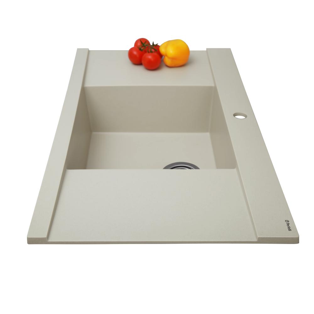 Granite kitchen sink Perfelli ETERNO PGE 125-96 LIGHT BEIGE