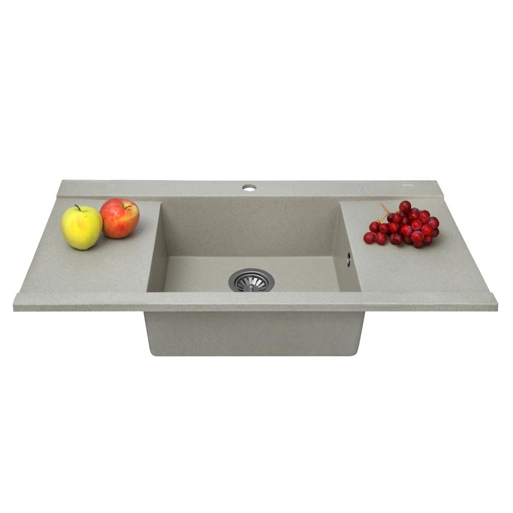 Lavello da cucina in granito Perfelli ETERNO PGE 125-96 SAND