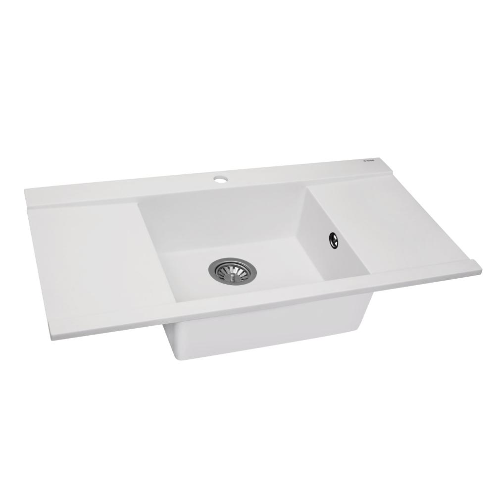 Мийка кухонна гранітна  Perfelli ETERNO PGE 125-96 WHITE
