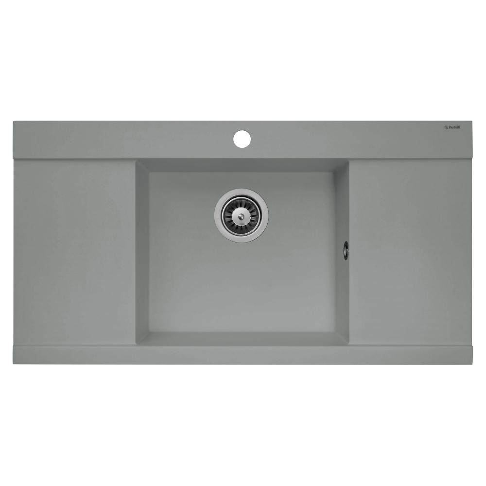 Lavello da cucina in granito Perfelli ETERNO PGE 1251-96 GREY METALLIC