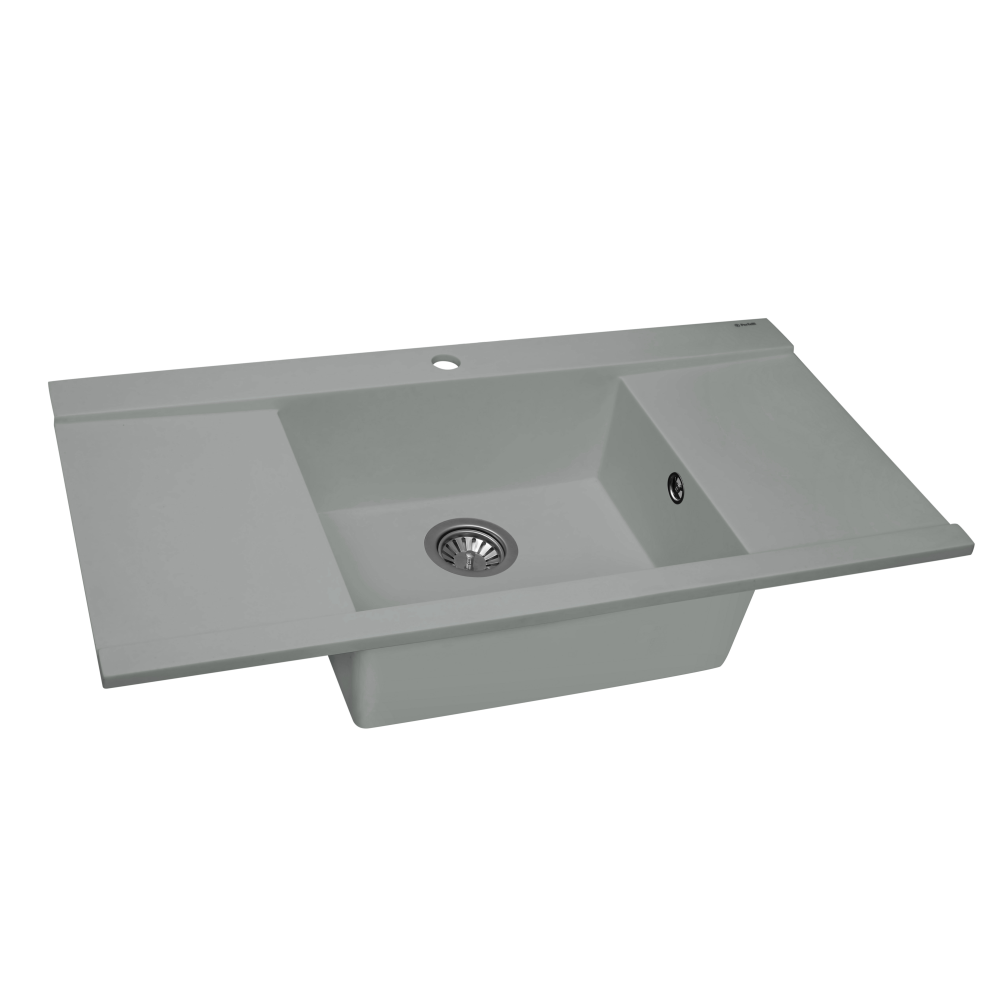 Granite kitchen sink Perfelli ETERNO PGE 1251-96 GREY METALLIC
