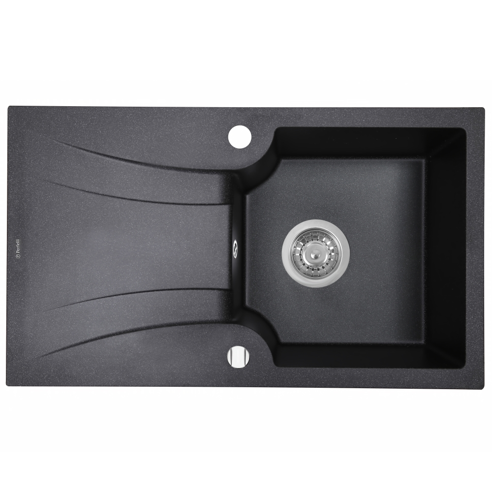 Мойка кухонная гранитная  Perfelli FELICINETTO PGF 114-78 BLACK