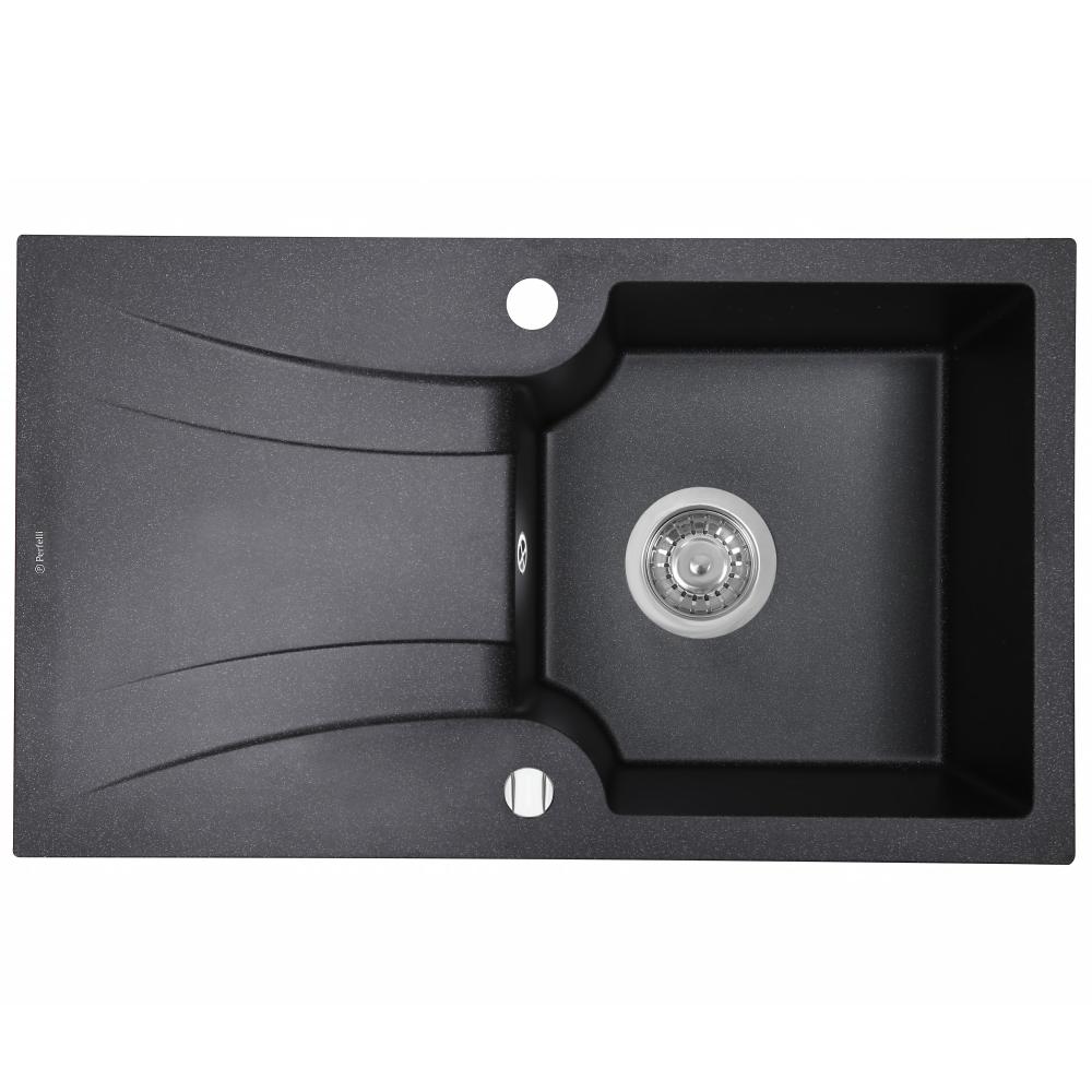 Granite kitchen sink Perfelli FELICINETTO PGF 114-78 BLACK