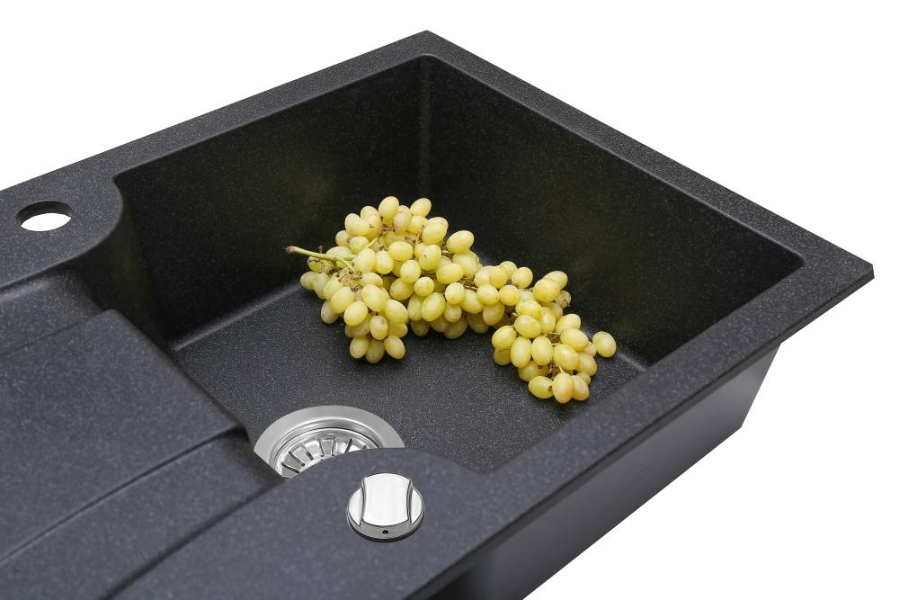 Lavello da cucina in granito Perfelli FELICINETTO PGF 114-78 BLACK