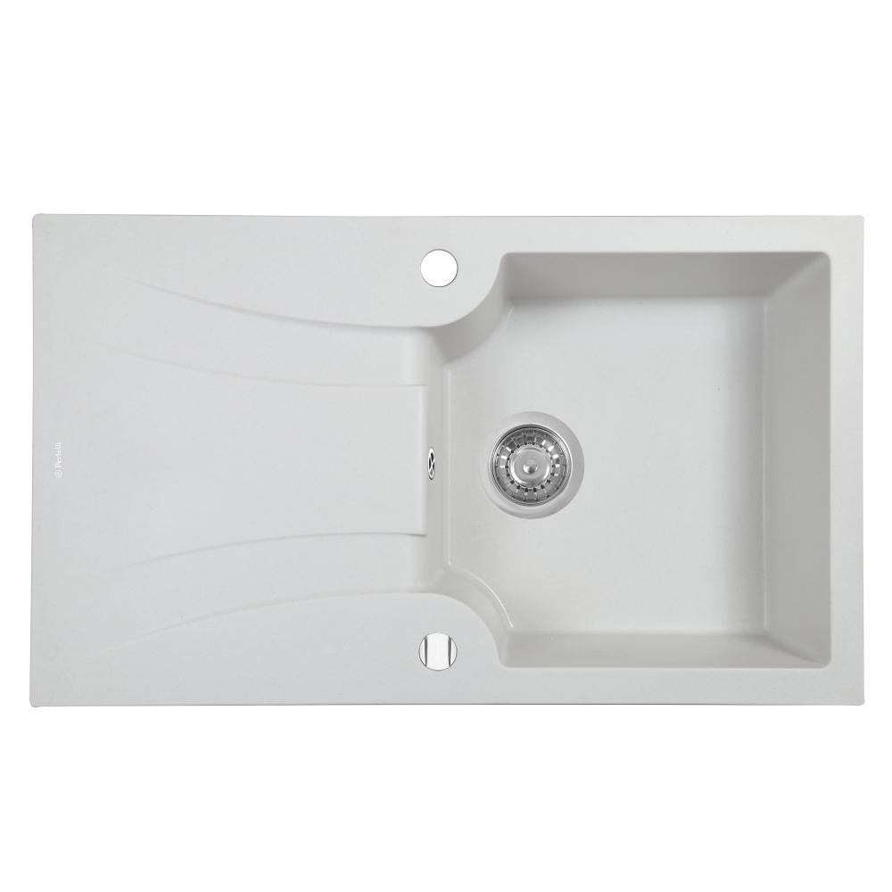 Мойка кухонная гранитная  Perfelli FELICINETTO PGF 114-78 WHITE