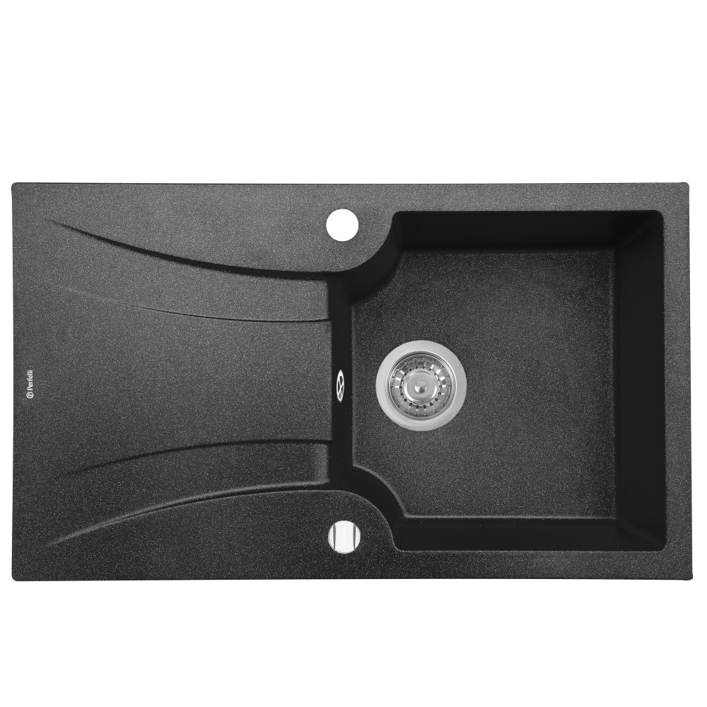 Lavello da cucina in granito Perfelli FELICINETTO PGF 1141-78 BLACK METALLIC