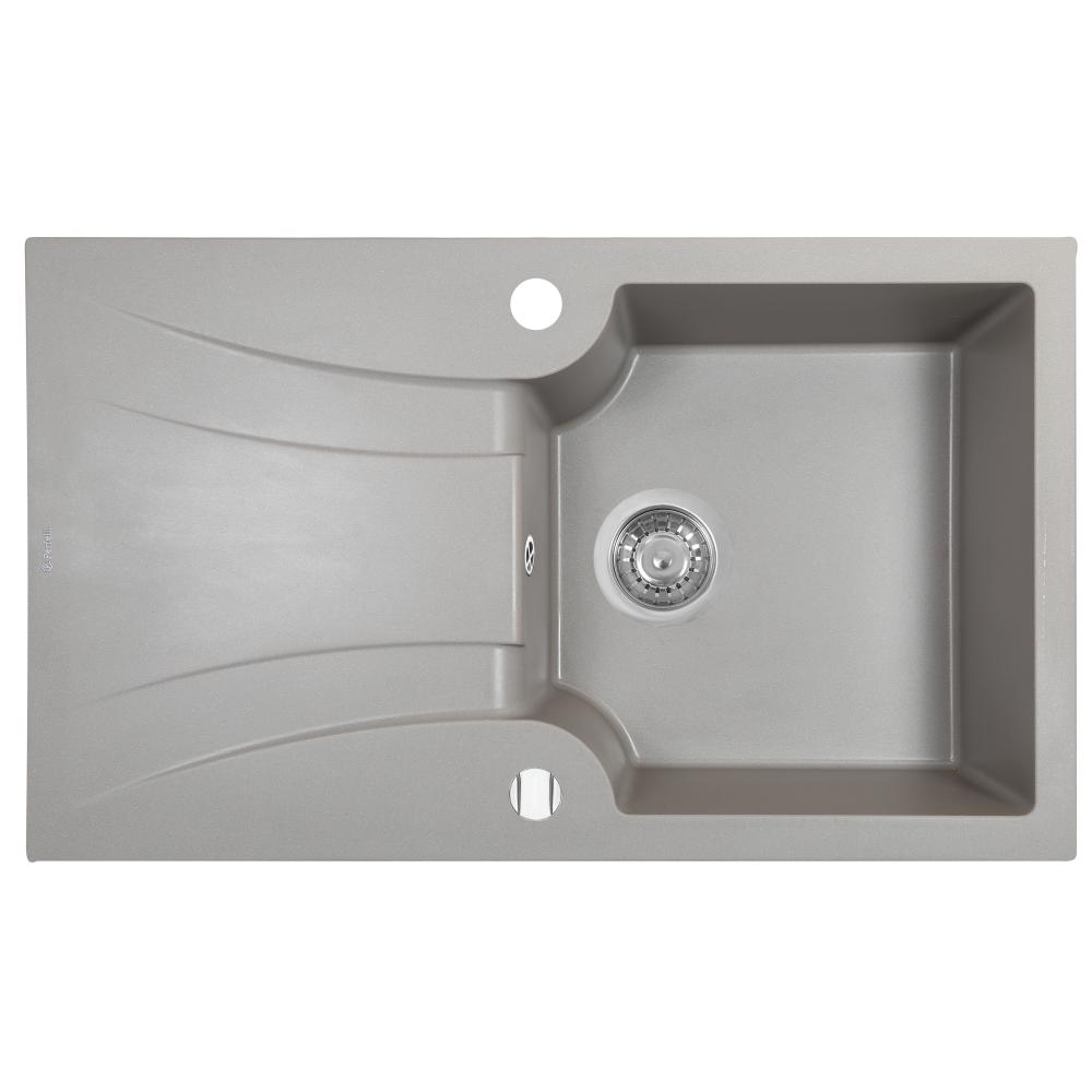 Мийка кухонна гранітна  Perfelli FELICINETTO PGF 1141-78 GREY METALLIC