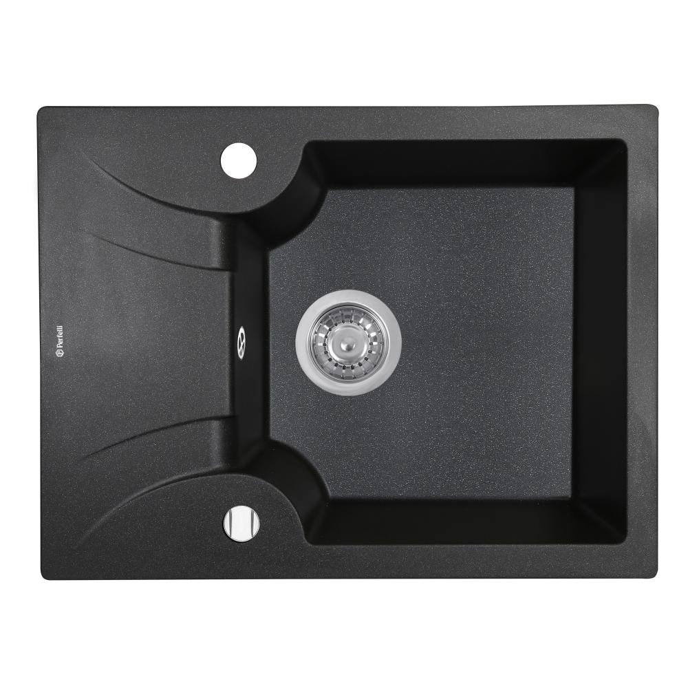 Granite kitchen sink Perfelli FELICITA PGF 134-60 BLACK