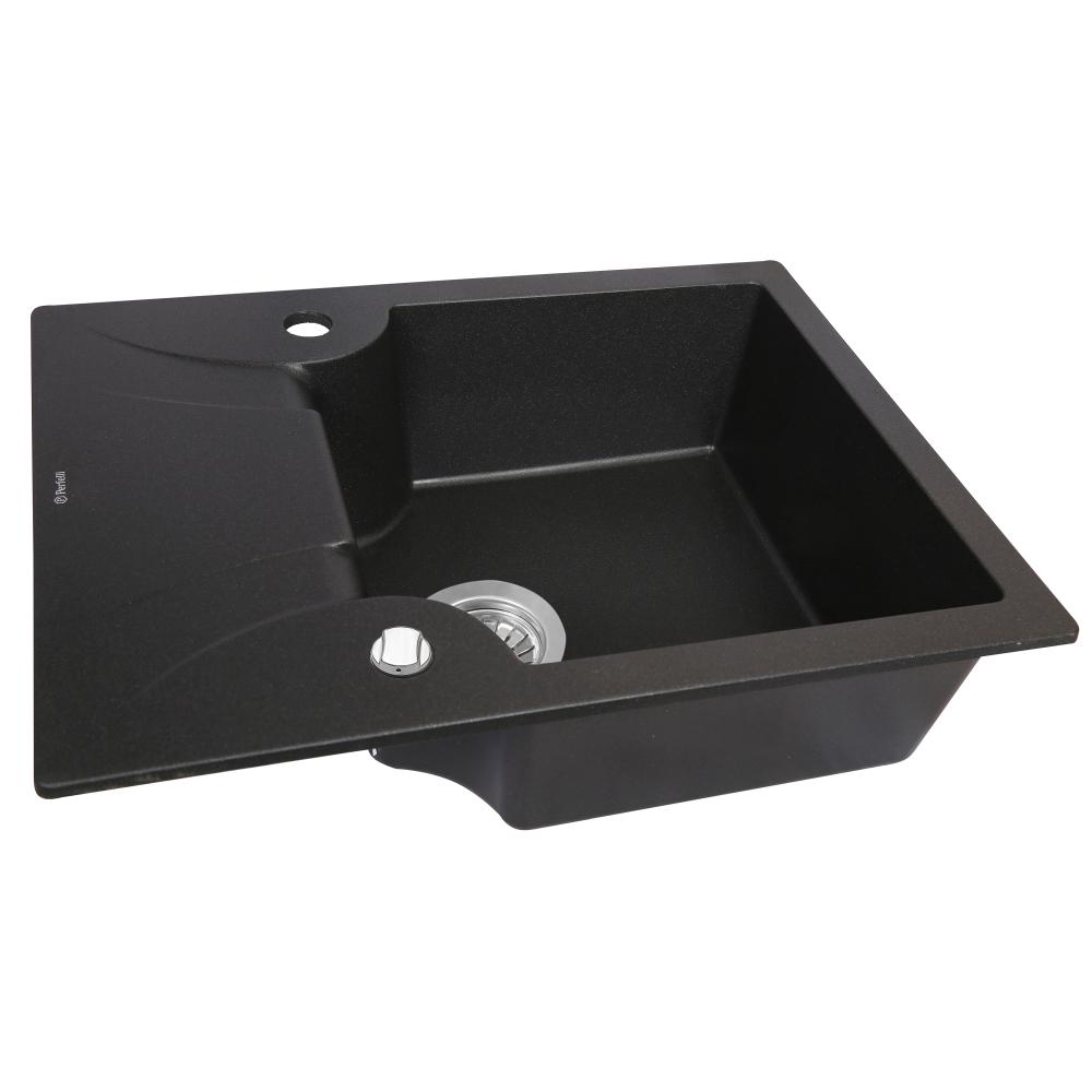 Мийка кухонна гранітна  Perfelli FELICITA PGF 134-60 BLACK