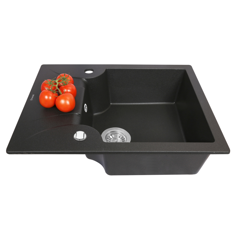 Мойка кухонная гранитная  Perfelli FELICITA PGF 134-60 BLACK