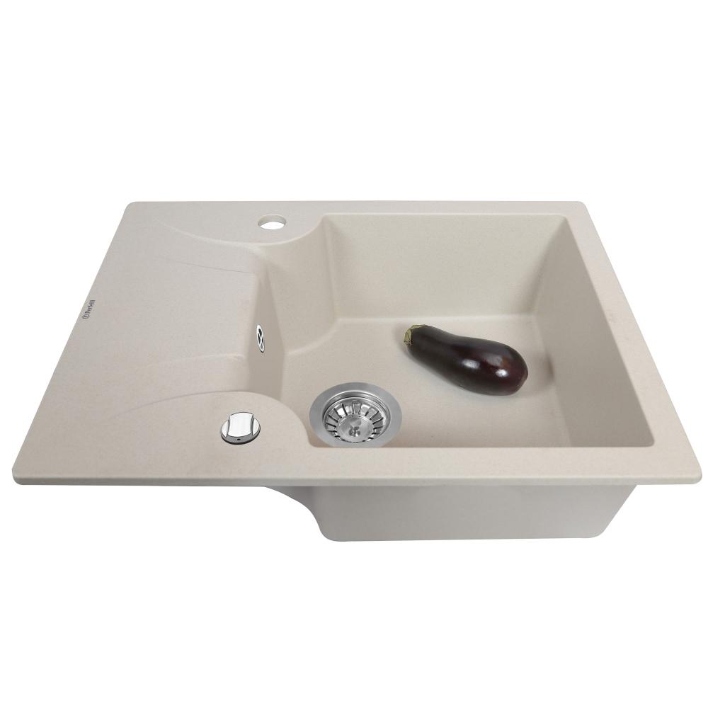 Granite kitchen sink Perfelli FELICITA PGF 134-60 LIGHT BEIGE