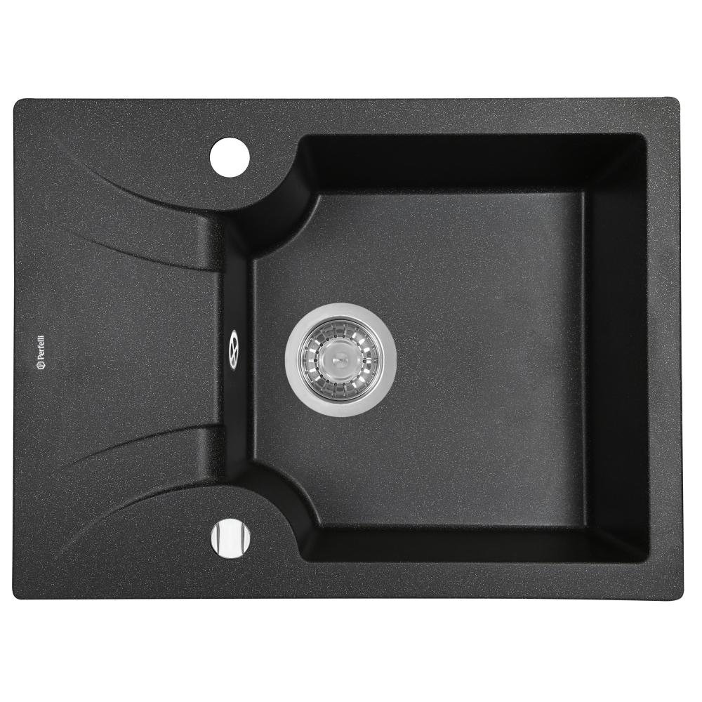 Lavello da cucina in granito Perfelli FELICITA PGF 1341-60 BLACK METALLIC