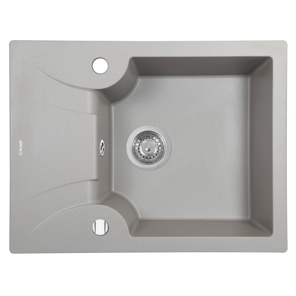 Lavello da cucina in granito Perfelli FELICITA PGF 1341-60 GREY METALLIC