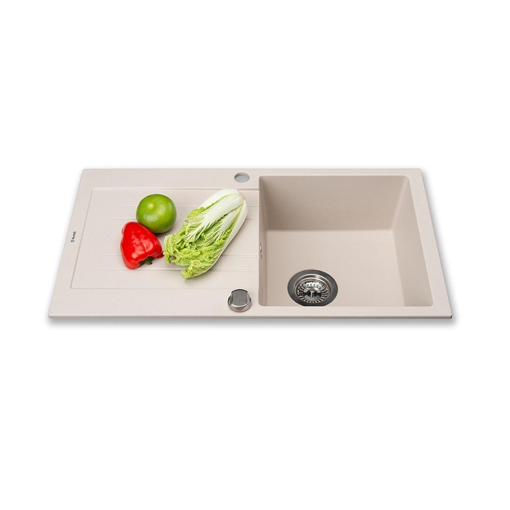 Lavello da cucina in granito Perfelli FIORA PGF 114-78 LIGHT BEIGE