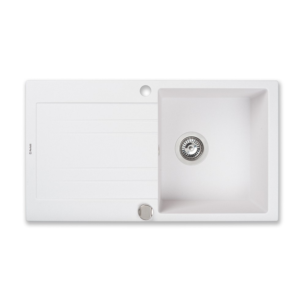 Granite kitchen sink Perfelli FIORA PGF 114-78 WHITE