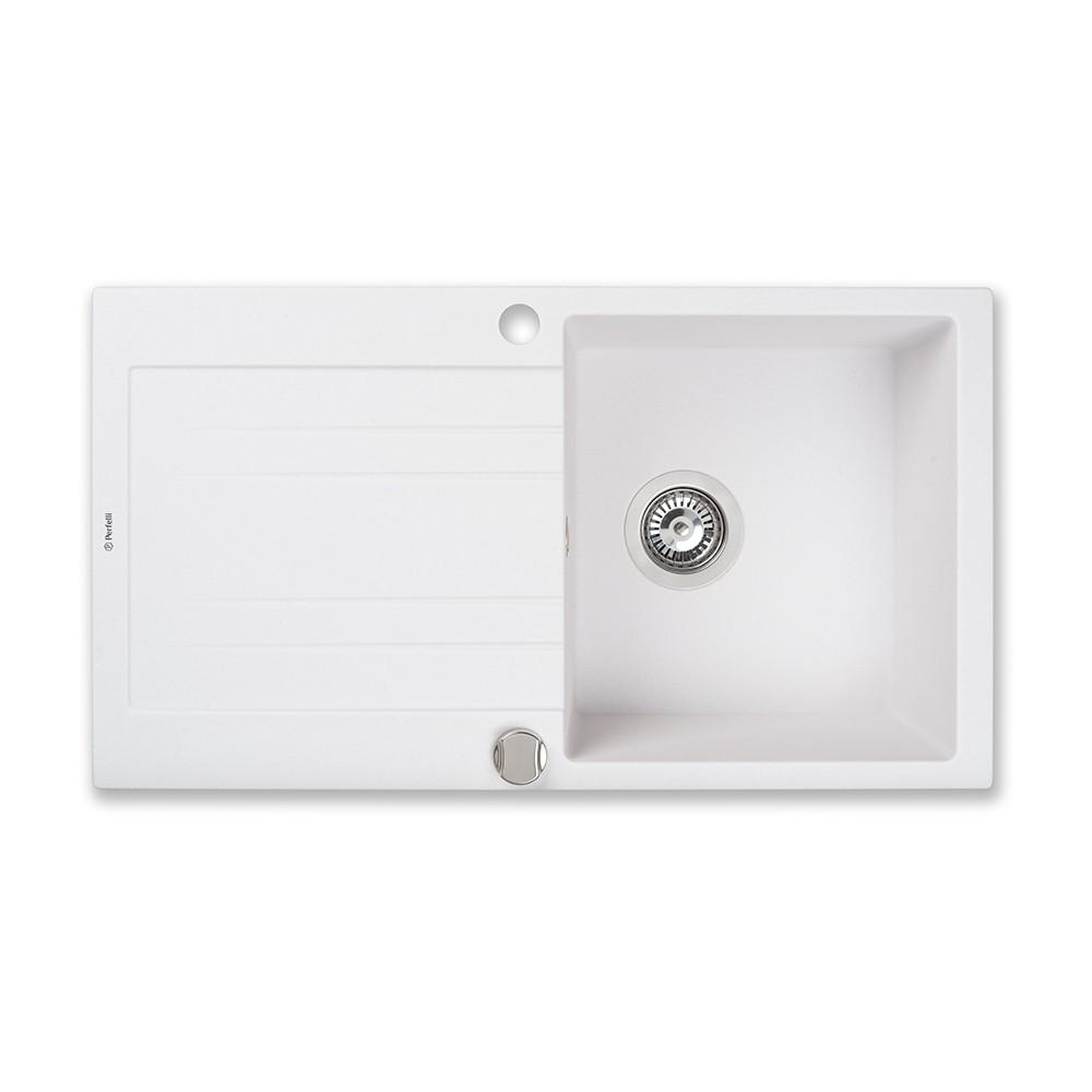Lavello da cucina in granito Perfelli FIORA PGF 114-78 WHITE