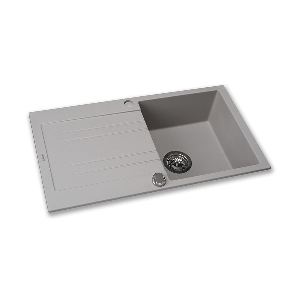 Мийка кухонна гранітна  Perfelli FIORA PGF 1141-78 GREY METALLIC