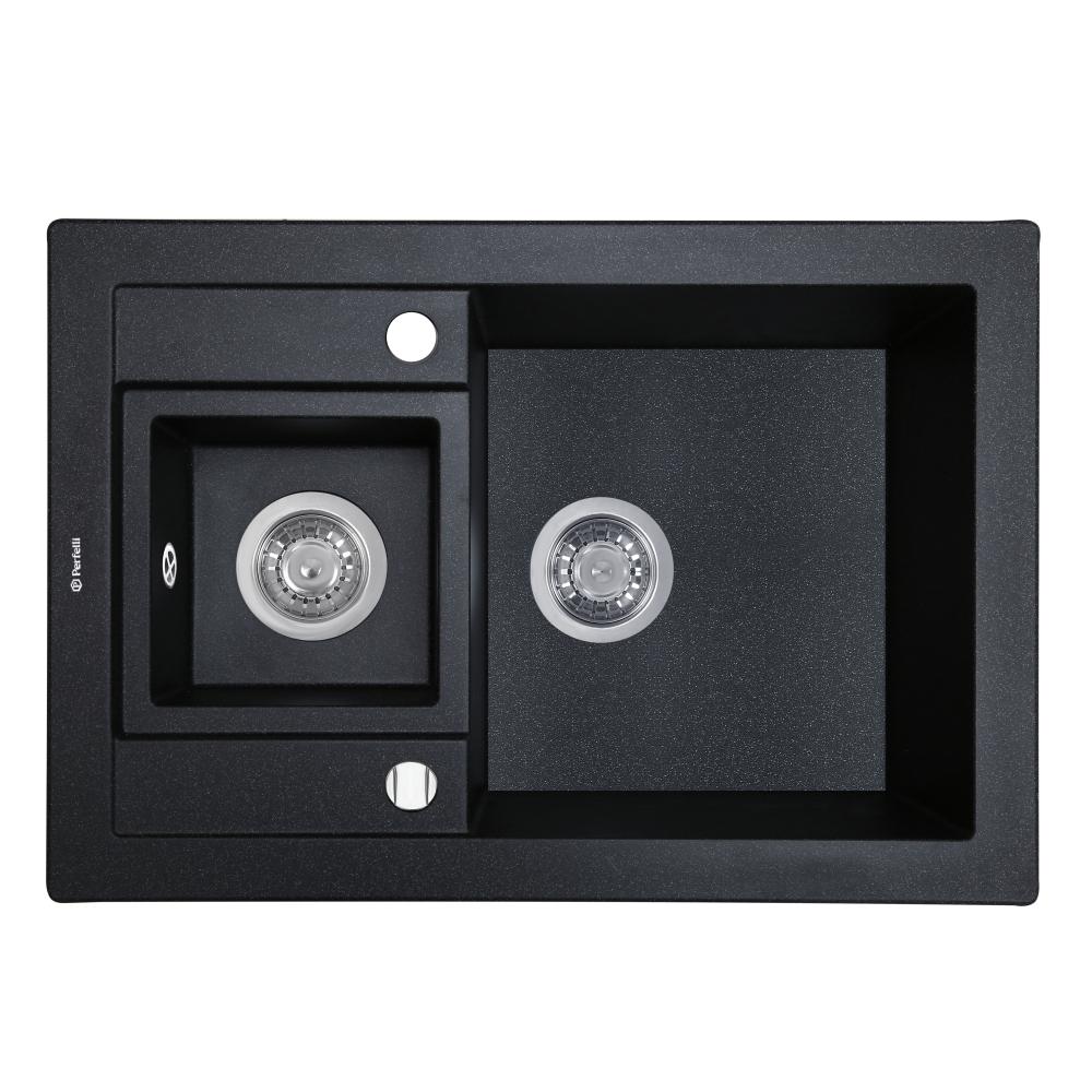Lavello da cucina in granito Perfelli GRANZE PGG 506-67 BLACK