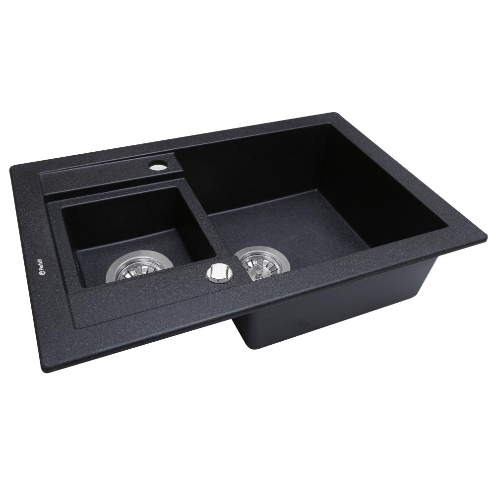 Мийка кухонна гранітна  Perfelli GRANZE PGG 506-67 BLACK
