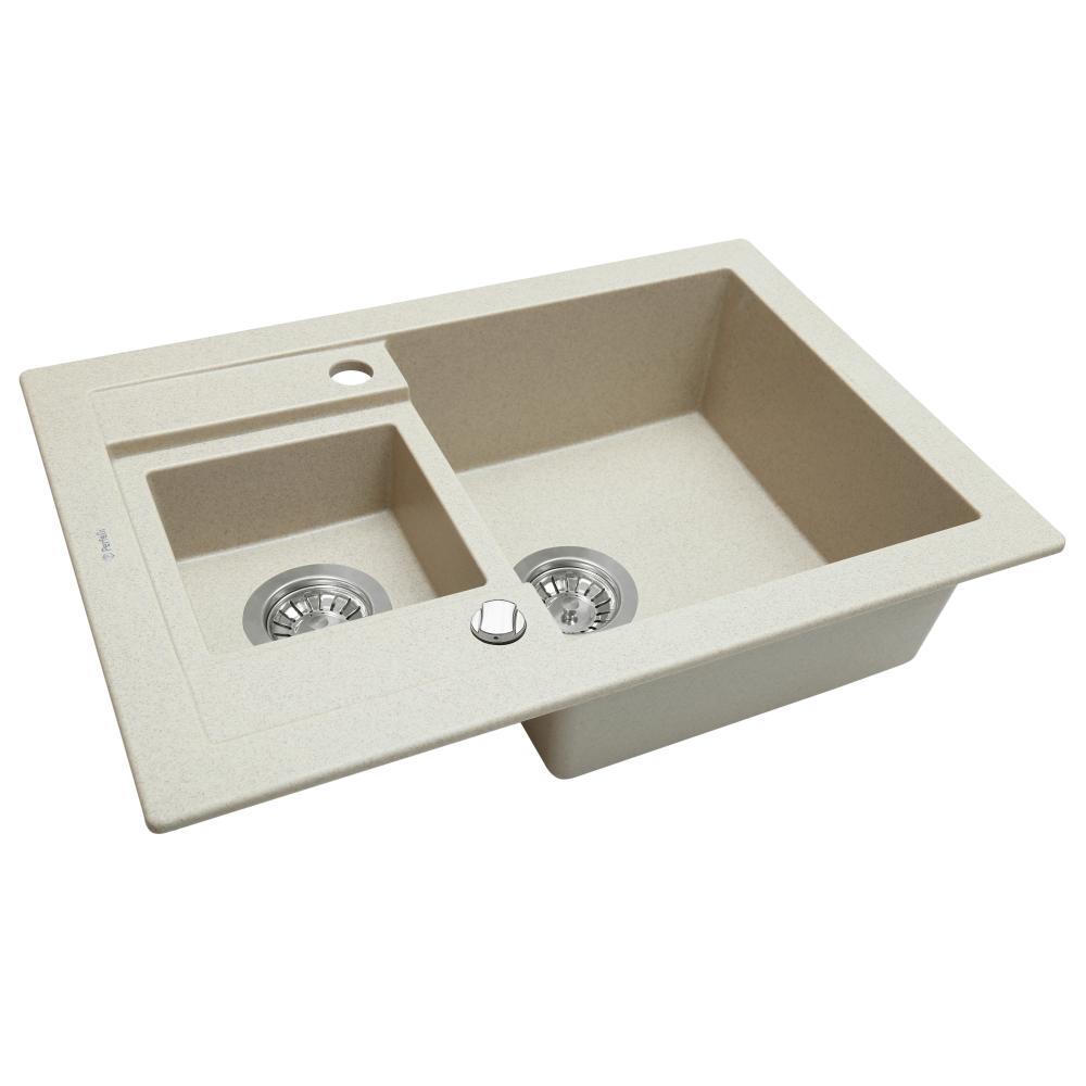 Granite kitchen sink Perfelli GRANZE PGG 506-67 LIGHT BEIGE