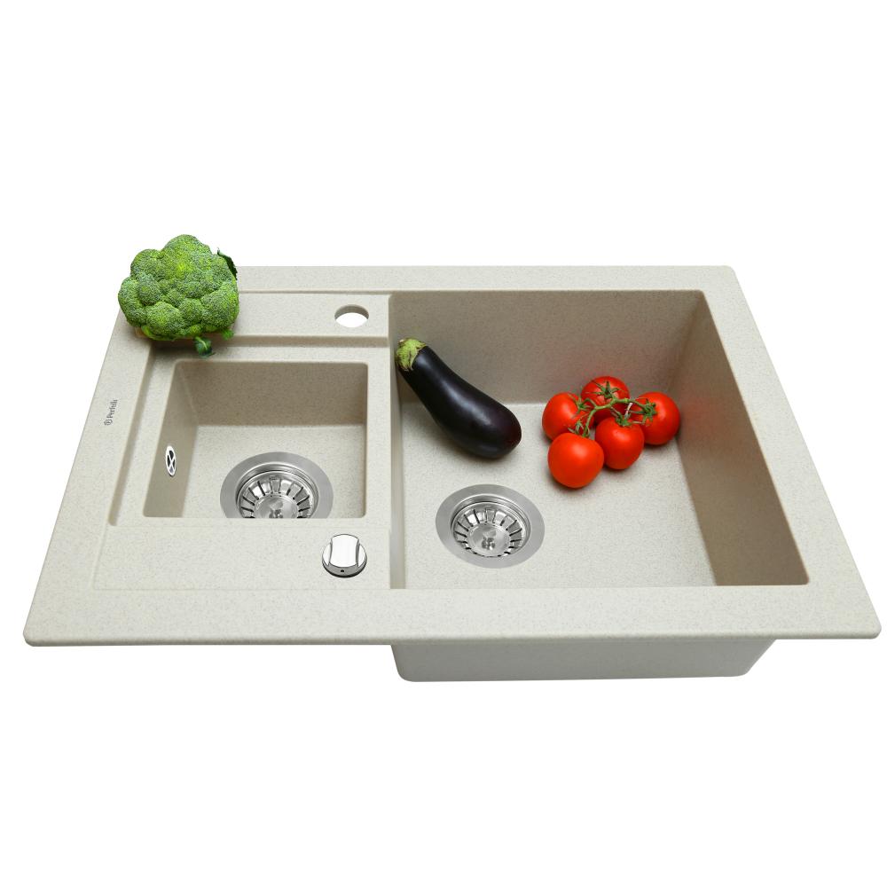 Мийка кухонна гранітна  Perfelli GRANZE PGG 506-67 LIGHT BEIGE