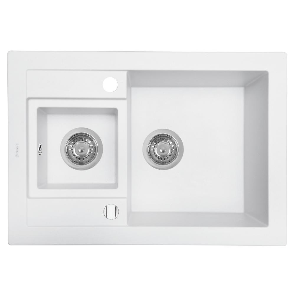 Granite kitchen sink Perfelli GRANZE PGG 506-67 WHITE