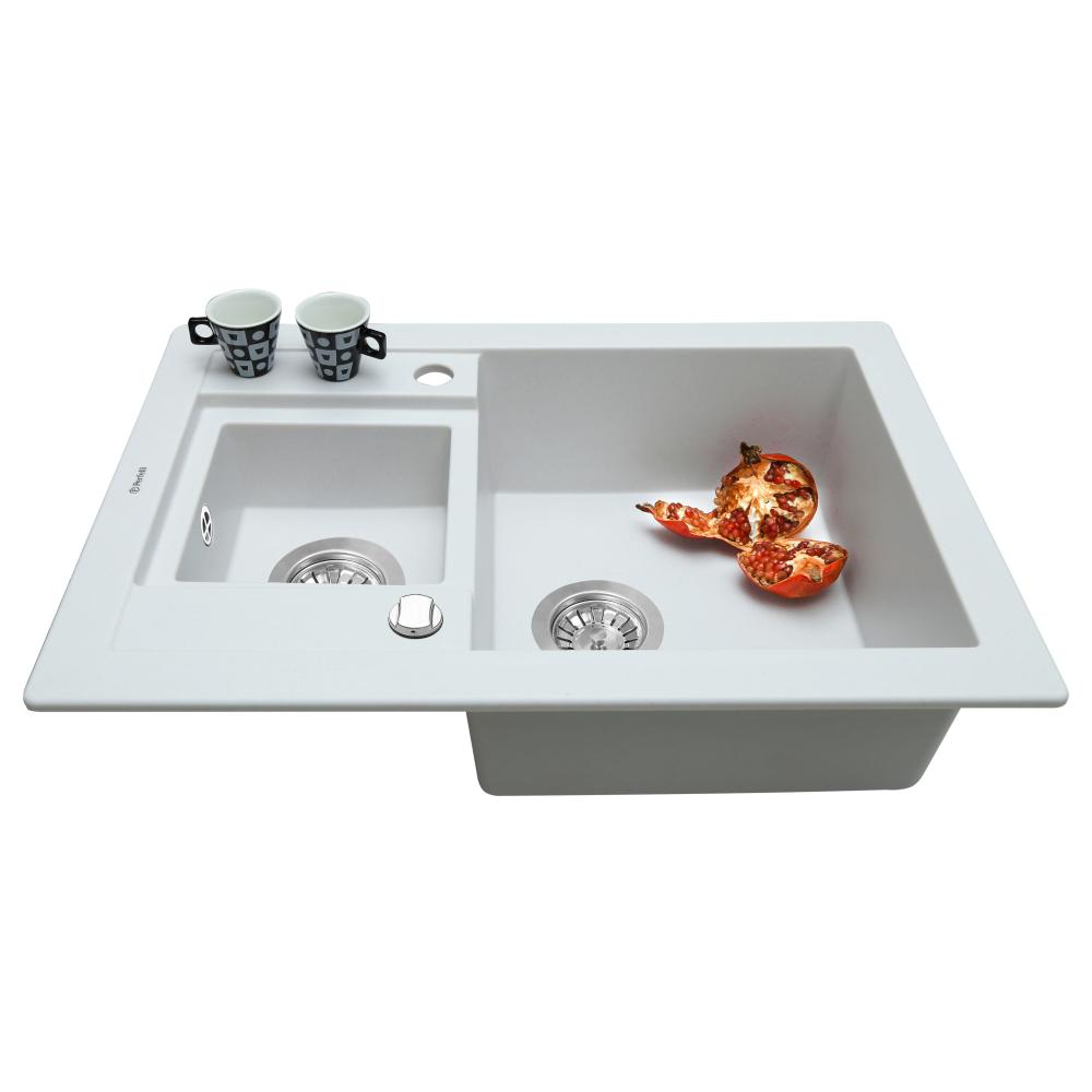 Мийка кухонна гранітна  Perfelli GRANZE PGG 506-67 WHITE