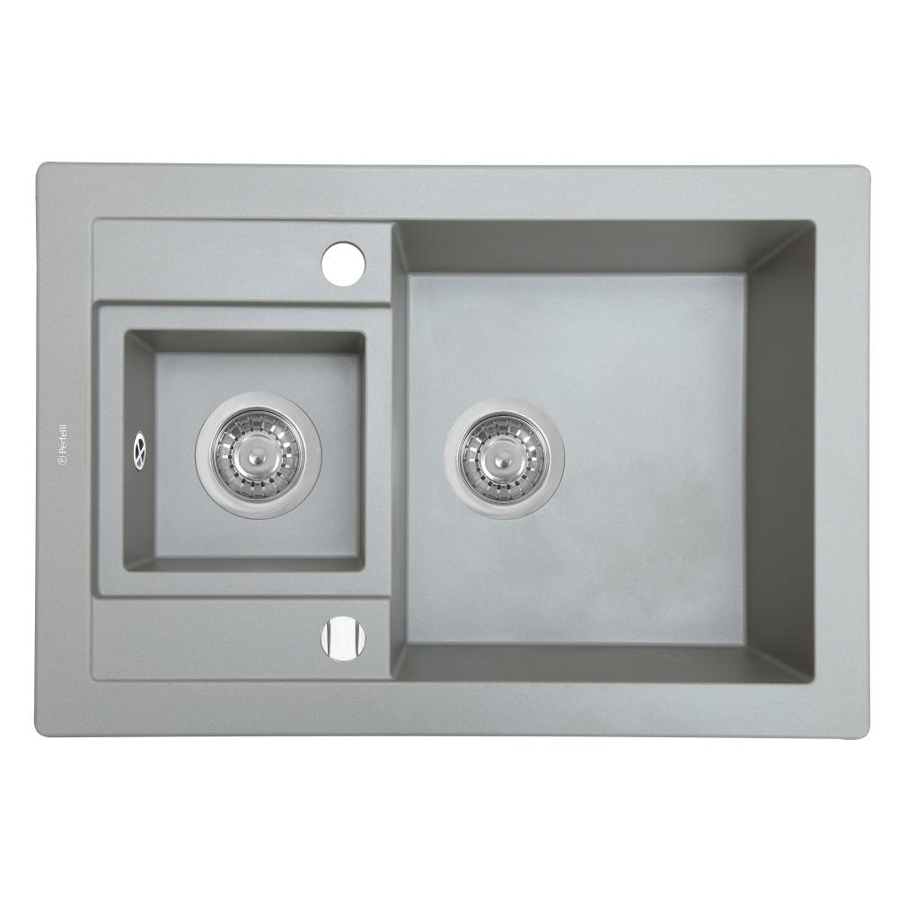 Мойка кухонная гранитная  Perfelli GRANZE PGG 5061-67 GREY METALLIC