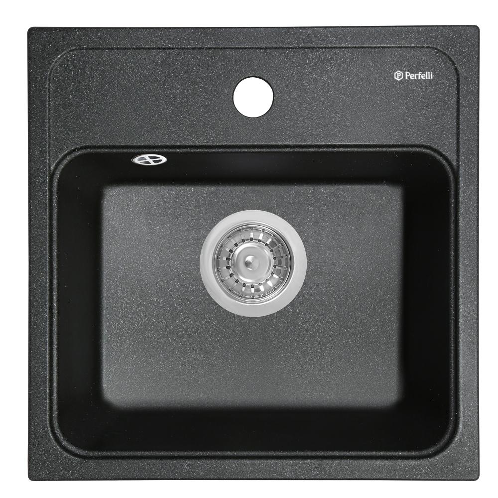 Мийка кухонна гранітна  Perfelli GRASSO SGG 104-40 BLACK