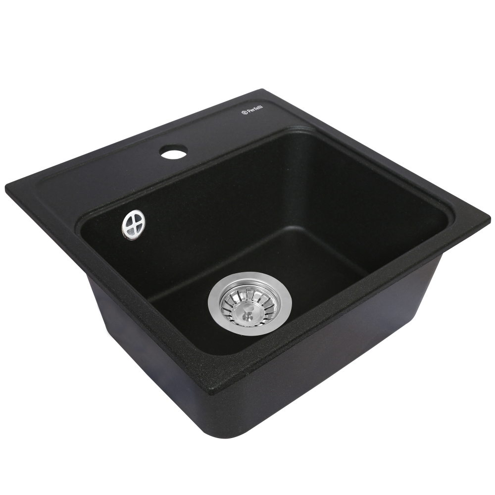 Lavello da cucina in granito Perfelli GRASSO SGG 104-40 BLACK