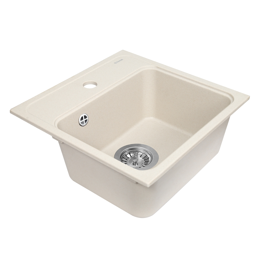 Lavello da cucina in granito Perfelli GRASSO SGG 104-40 LIGHT BEIGE
