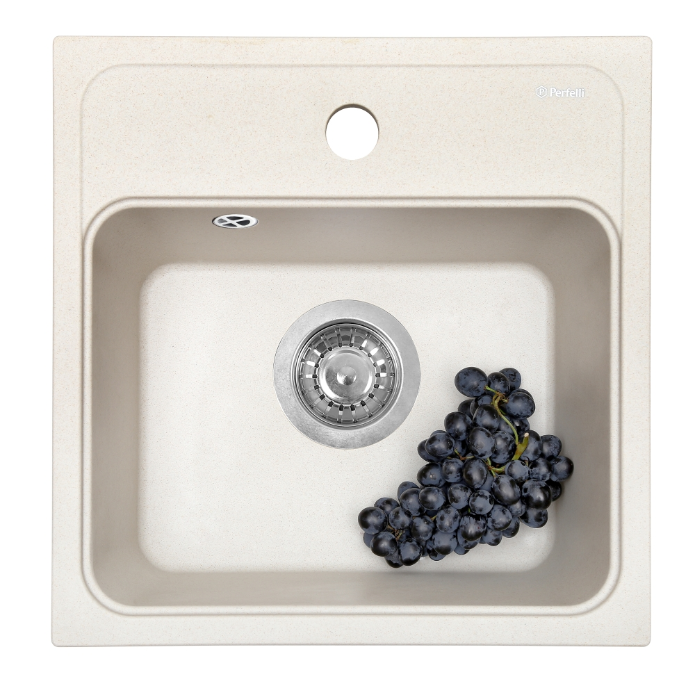 Granite kitchen sink Perfelli GRASSO SGG 104-40 LIGHT BEIGE