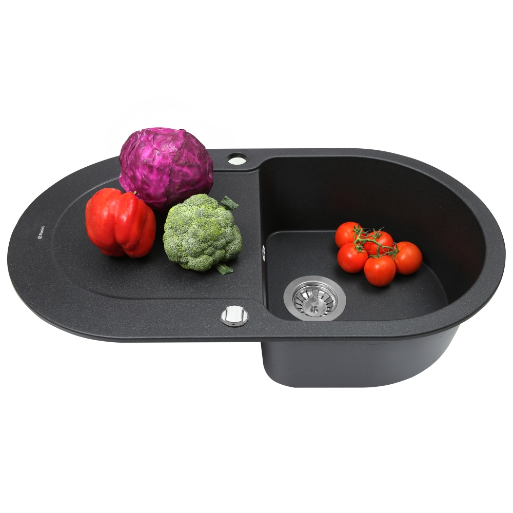 Мойка кухонная гранитная  Perfelli IZETTA OGI 114-78 BLACK