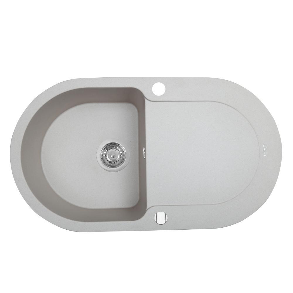 Granite kitchen sink Perfelli IZETTA OGI 114-78 LIGHT BEIGE