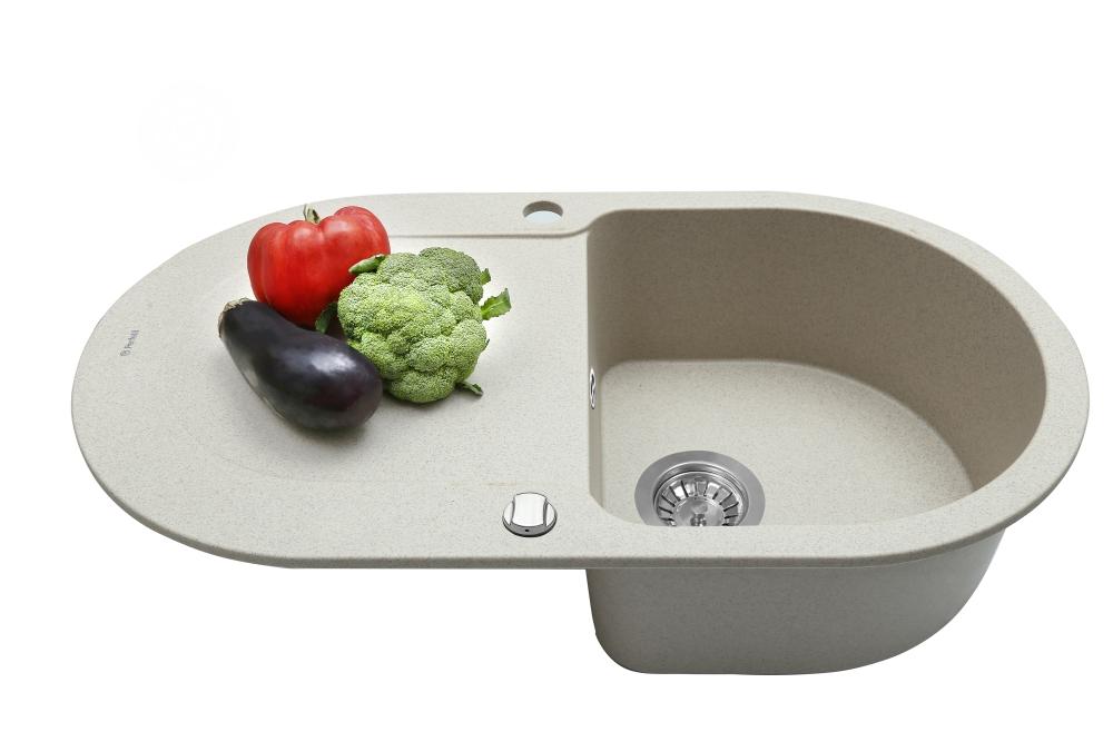 Мойка кухонная гранитная Perfelli IZETTA OGI 114-78 SAND