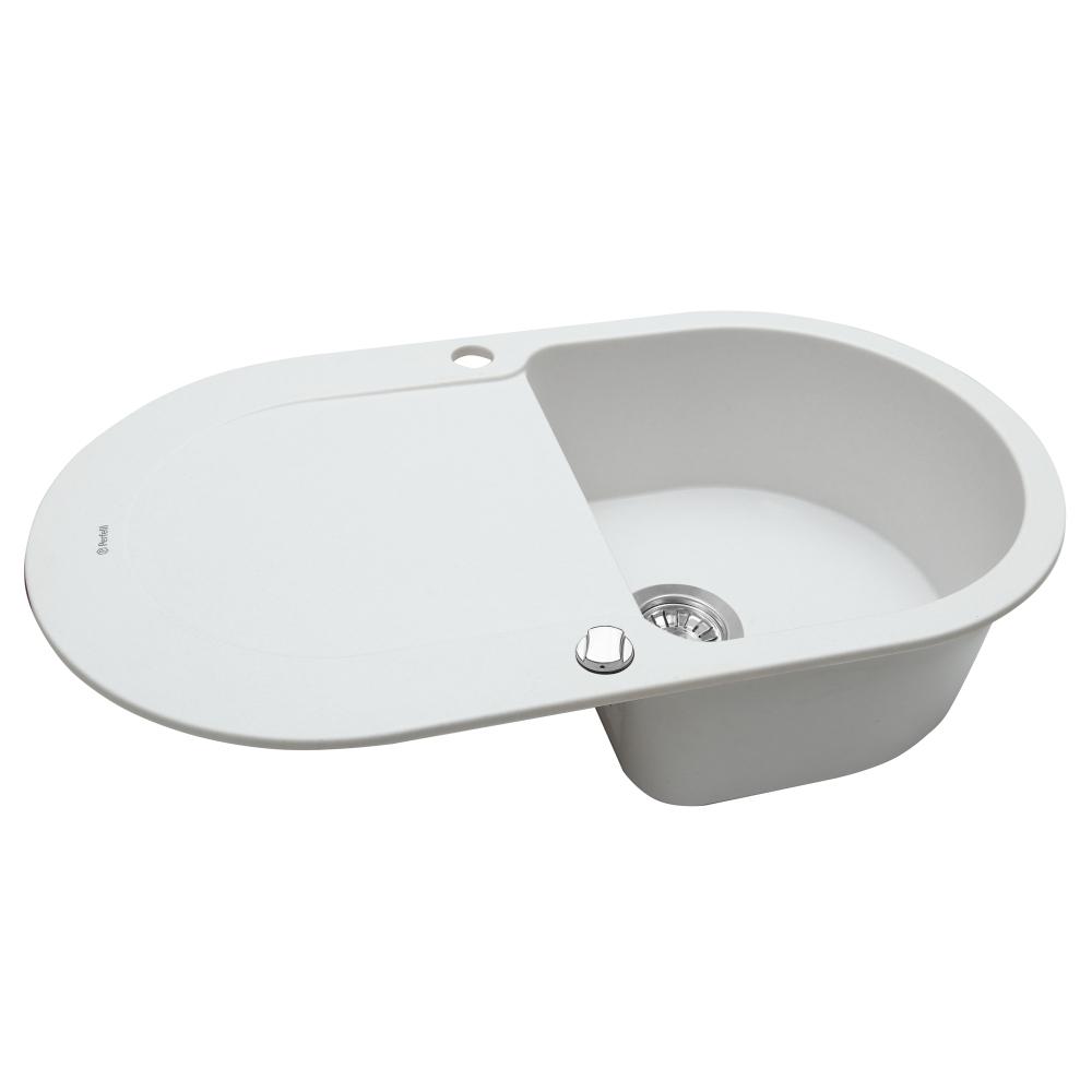 Мийка кухонна гранітна  Perfelli IZETTA OGI 114-78 WHITE