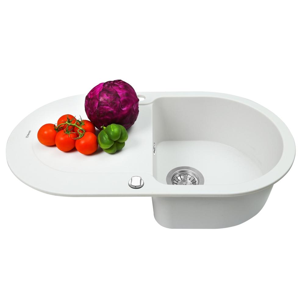 Мойка кухонная гранитная  Perfelli IZETTA OGI 114-78 WHITE