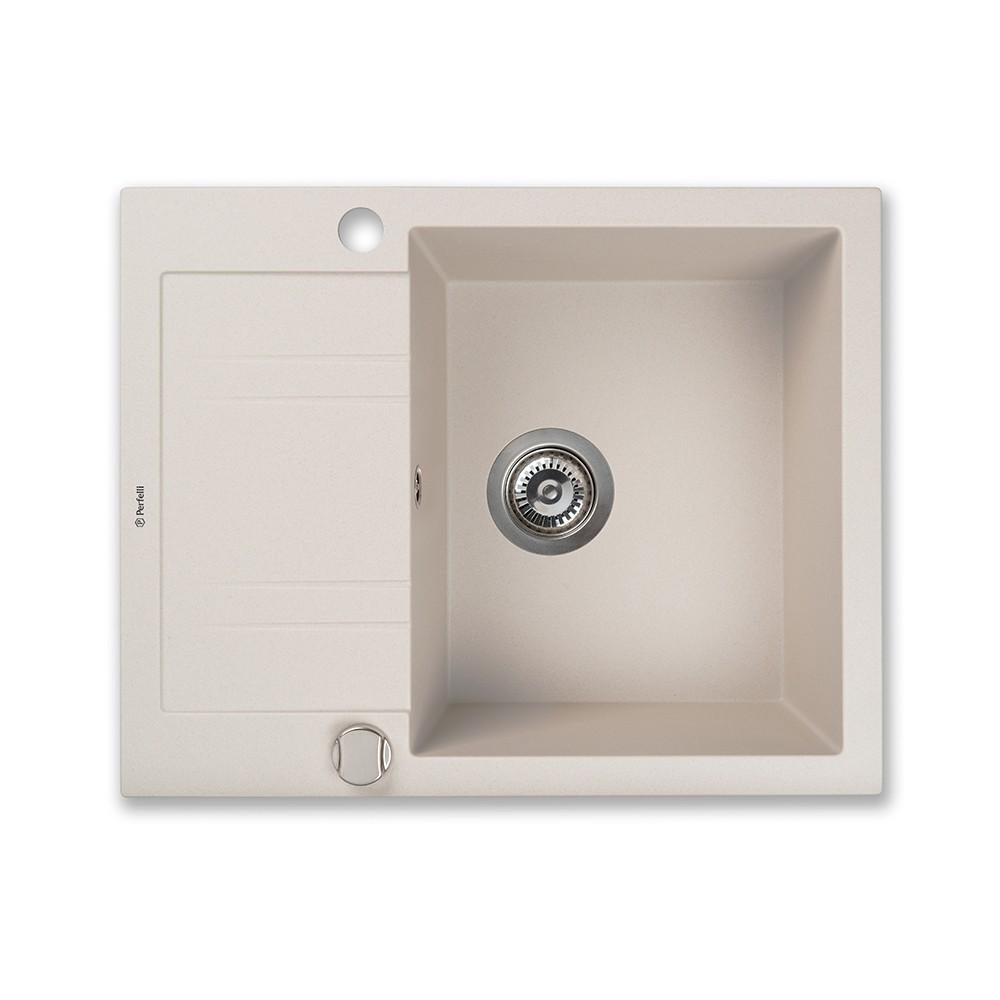Granite kitchen sink Perfelli LINEA PGL 134-60 LIGHT BEIGE