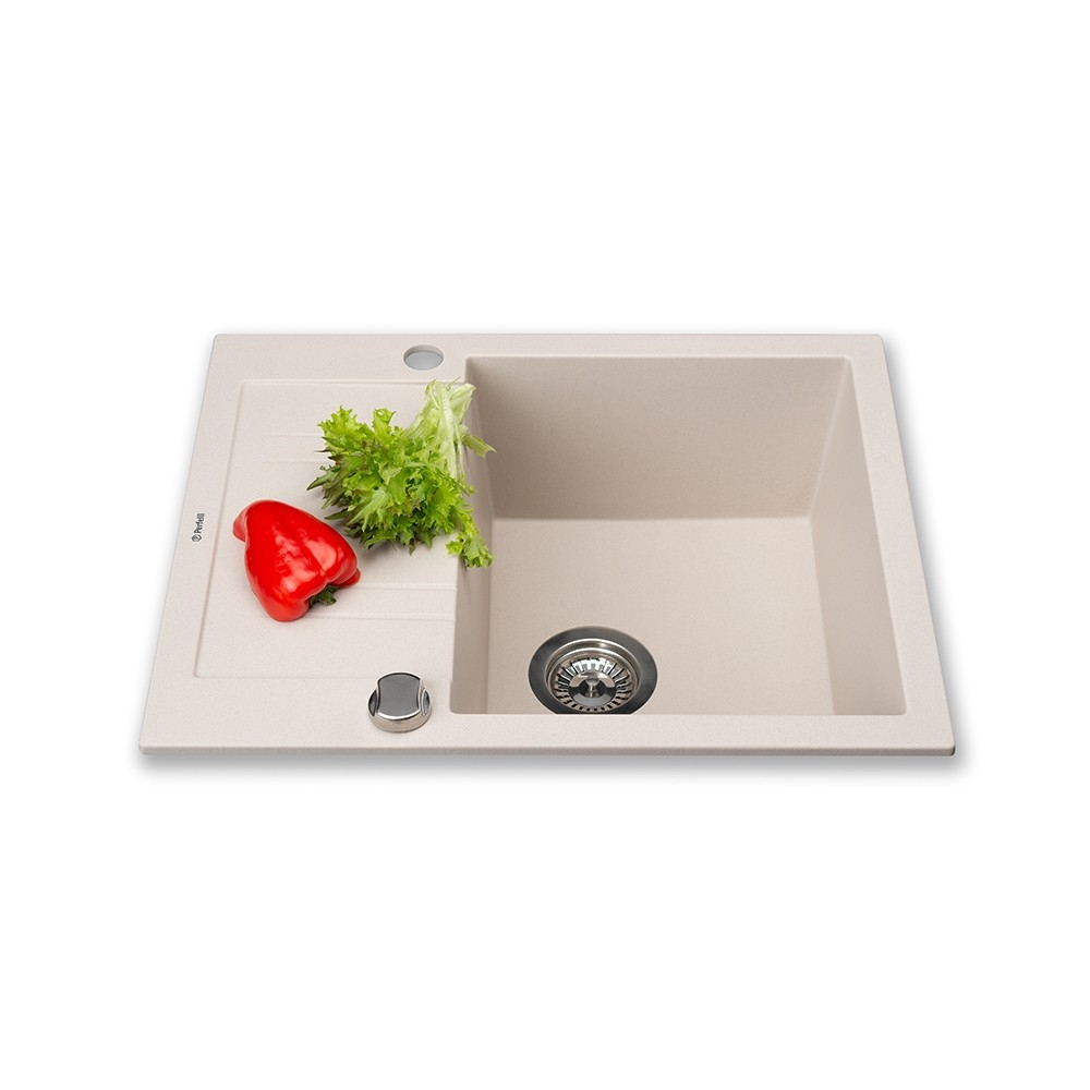 Granite kitchen sink Perfelli LINEA PGL 134-60 LIGHT BEIGE