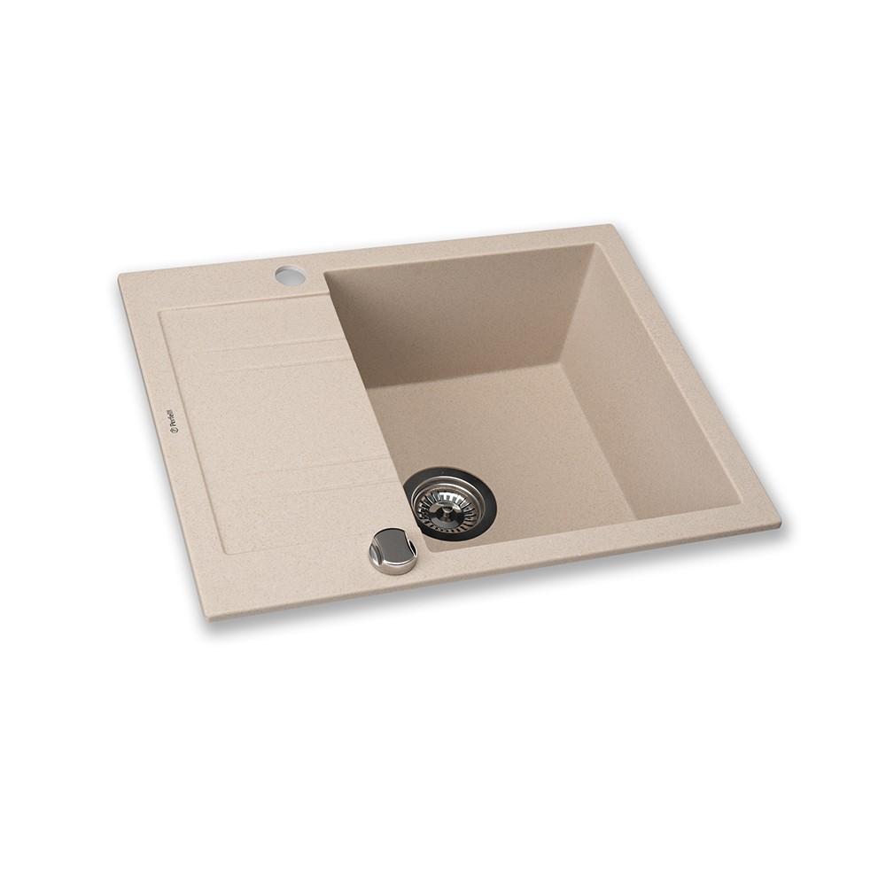 Granite kitchen sink Perfelli LINEA PGL 134-60 SAND